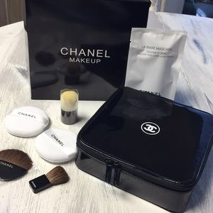 Chanel Makeup Case And Brush Set